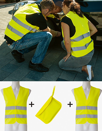 Car Safety Vest Double Pack EN ISO 20471
